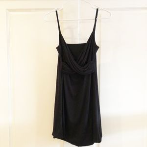Short Simple Black Tank Dress